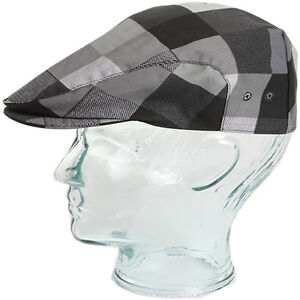 Big Grey Check Chef Flat Cap Thermo-cool New S-XL New 2012  b7c281fc0c4
