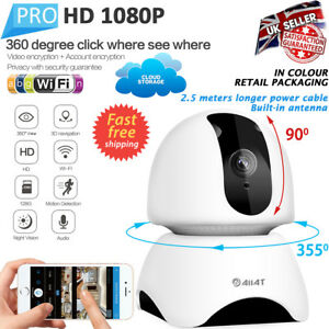 Wireless WiFi IP Camera 1080P HD IR Security Webcam 2MP Baby Audio Pan Tilt CCTV