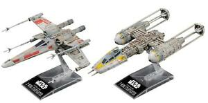 BANDAI-STAR-WARS-1-144-X-Wing-Starfighter-e-amp-Y-Wing-Starfighter-e-MODEL-KIT-NUOVO