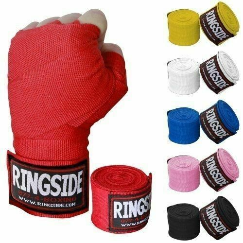 "200/"" Red Ringside Boxing Pro Mexican Handwraps"