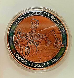 NASA-MARS-Rover-Landing-Coin-Space-Program-Bronze-Sci-Fi-Science-Moon-Red-Planet