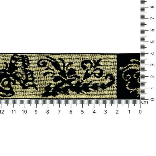 1m banda elastica-Elastic-band 40 mm-Mariposa-lurex-Gold plata