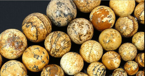 "Natural Picture Jasper Gemstone Round Beads 15/"" 6 mm 8 mm 10 mm 12 mm 14 mm 16 mm"