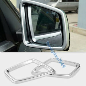 Details About Matt Chrome Side Mirror Frame Trim Rims Mercedes Benz W166 Ml 2017 X166 Gl 13