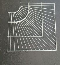 Lg size Rubber Maid Corner White Wire Shelf for Closet Lot of 2