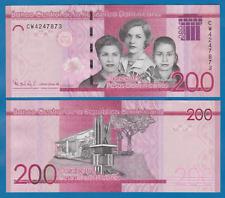 UNC /> Redesigned Dominican Republic 200 Pesos Dominicanos 2017 P-New 2019