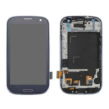 Blue LCD Touch Screen Glass Digitizer Frame For Samsung Galaxy S3 Neo GT-I9300I
