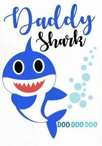 DADDY-SHARK-FABRIC-T-SHIRT-IRON-ON-TRANSFER