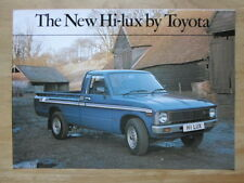 TOYOTA HI LUX PICK UP 1980 UK Mkt Sales Brochure