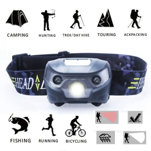 2000LM LED USB Rechargeable Headlight Head Lamp Flashlight Glare Outdoor Torch