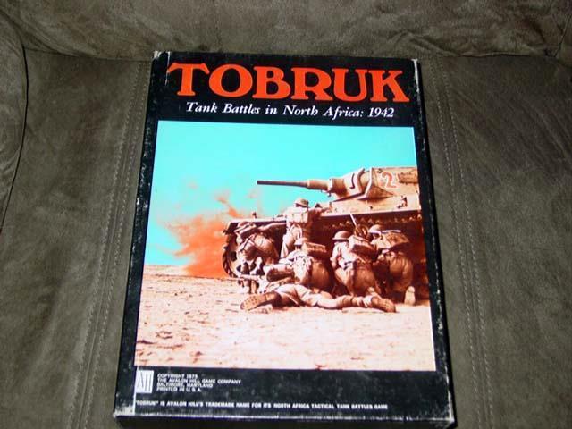 Avalon Hill Ah 1975-Tobrouk jeu WW2 tank batailles en Afrique du nord 1942 (UNP)  2