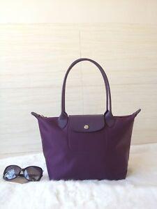fee22bdec630 100% Auth Longchamp Le Pliage Neo Small Tote Bag Bilberry 2605578645 ...