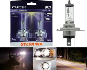 Sylvania-Xtra-Vision-9003-HB2-H4-60-55W-Two-Bulb-Head-Light-Dual-Beam-Upgrade-OE
