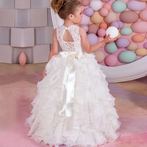 ABAO Childrens Flower Girls Fluffy Tulle Elegant Ball Gown Wedding Dress ZG