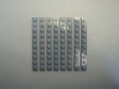 LEGO NEW Dark Bluish Gray Plate 1x10 Lot x8 Star Wars Ninjago Castle Parts 4477
