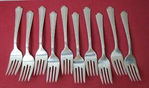 "Alpha Pattern Silverplate 6/"" Individual Salad Fork Fairfield Plate"
