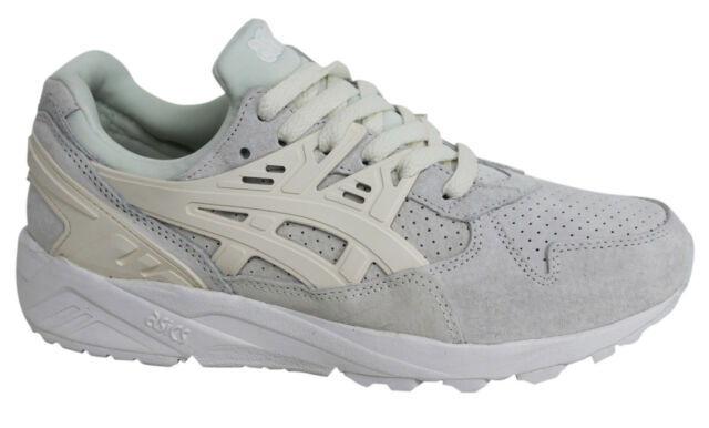 reputable site de908 b9a43 Asics Gel-Kayano EVO White Lace-Up Mens Textile Trainers H6M2L 9999 D9