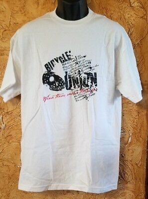 Bicycle Union White Face Where There/'s Smoke Large T-shirt BMX Bike NEW