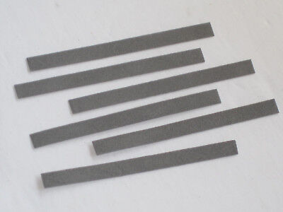 6 Flex files contact burnishing fine polish  .025 thick points file 240 grit