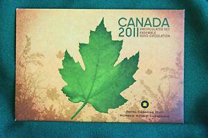 2011-Canada-Prooflike-PL-brilliant-uncirculated-set-P-mark-original-pkg