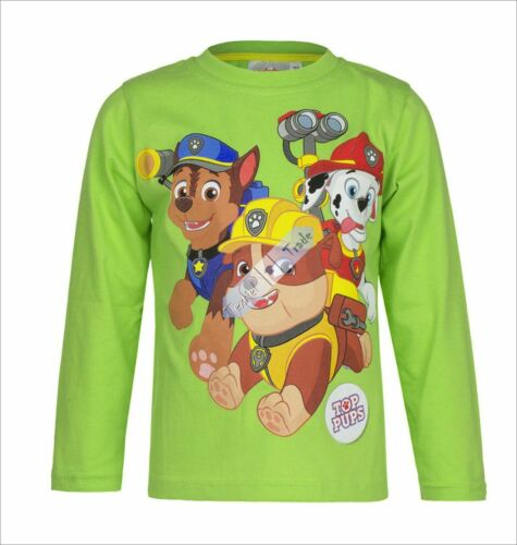 Brand New Boys Official Licensed Paw Patrol Long Sleeve T Tee Shirt Top