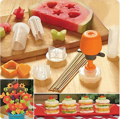 Pop Chef Food Decorator 6 Shape Cake Fruit Maker Kitchen Tool