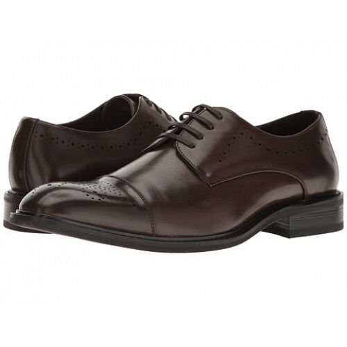 NEW - Kenneth Cole UNLISTED Men's CAP-TOE Brown OXFORD DRESS SHOES - 10
