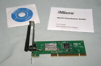 Imicro 54m Wireless Pci Wifi Network Adapter 2.4ghz 802.11g/g 54mbps Nt-pci54m