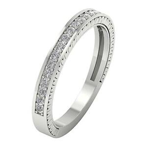 Anniversary-Stackable-Ring-SI1-G-Round-Diamond-0-35-Ct-14K-White-Gold-Pave-Set