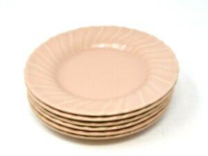 Franciscan-Coronado-Swirl-Matte-Coral-6-3-8-039-039-Bread-amp-Butter-Plates-Quantity-6