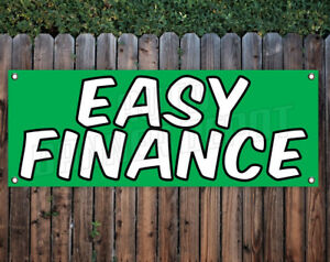 Image Is Loading Easy Finance Auto Dealer 1 Sided Banner Sign