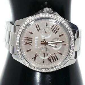 AM4628-Fossil-Cecile-Women-039-s-watch-Silver-40-mm-7-034-Quartz-Battery