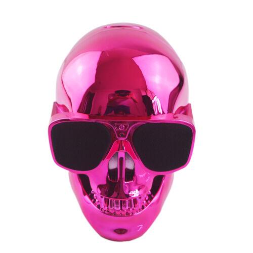 Portable Plastic Metallic Cool Skull Shape Wireless Bluetooth Speaker Subwoofer