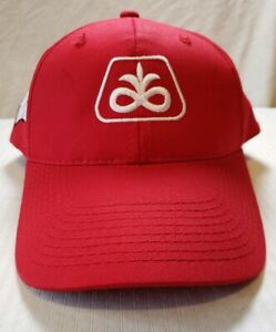 2018 PIONEER SEED *WISCONSIN BADGERS* RED w//RED MESH BACK HAT CAP *LOGO* NEW!
