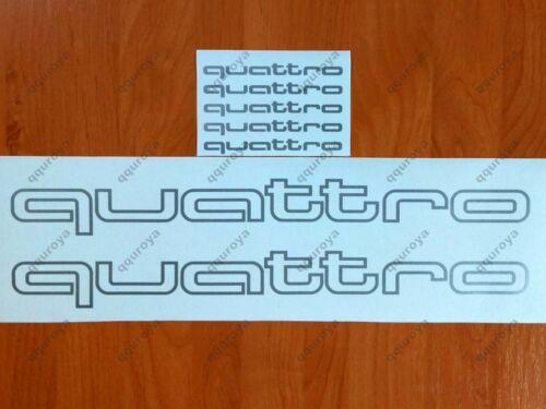 quattro AUDI SRT Car Racing Sport Die Cut Decals Sticker Vinyl Emblem Logo #108w