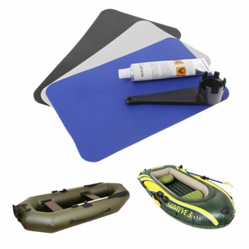 Inflatable Boat Pool Kayaking PVC Repair Patch Adhesive Glue Kit Valves Wrench