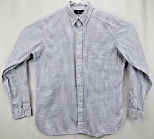 54fe7f19 Details about Ralph Lauren Mens Shirt XLarge Long Sleeve Button Up  White/Blue Checkered