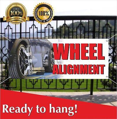 Banner Vinyl WHEEL ALIGNMENT Advertising Sign Flag Balancing Cars Autos Repairs
