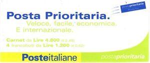Italia-Republica-2001-Folleto-Correo-Prioridad-MNH