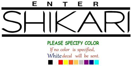 "Enter Shikari Music rock Decal Sticker JDM Funny Vinyl Car Truck Window 12/"""