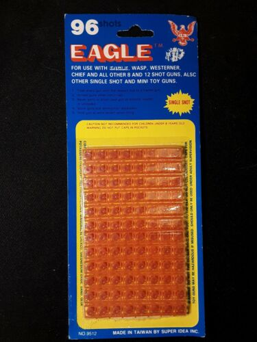 Eagle Plastic Caps 96 for Eagle Wasp Westerner Chief and Other Cap Pistols NEW