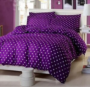Purple-Soft-Bed-Doona-Duvet-Quilt-Cover-Set-Or-Sheet-Set-Fitted-All-Sizes