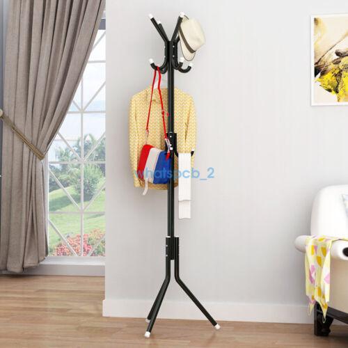 Metal Organizer Coat Rack Hat Bag Stand Tree Clothes Umbrella 12 Hooks colors WP