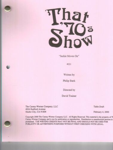 "THAT '70s SHOW Show Script ""Jackie Moves On"""