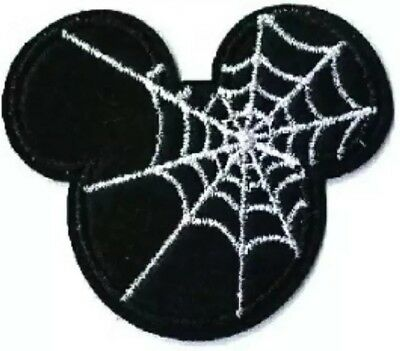 Pink Bow Spider Insect Embroidered Iron On Applique Patch Halloween