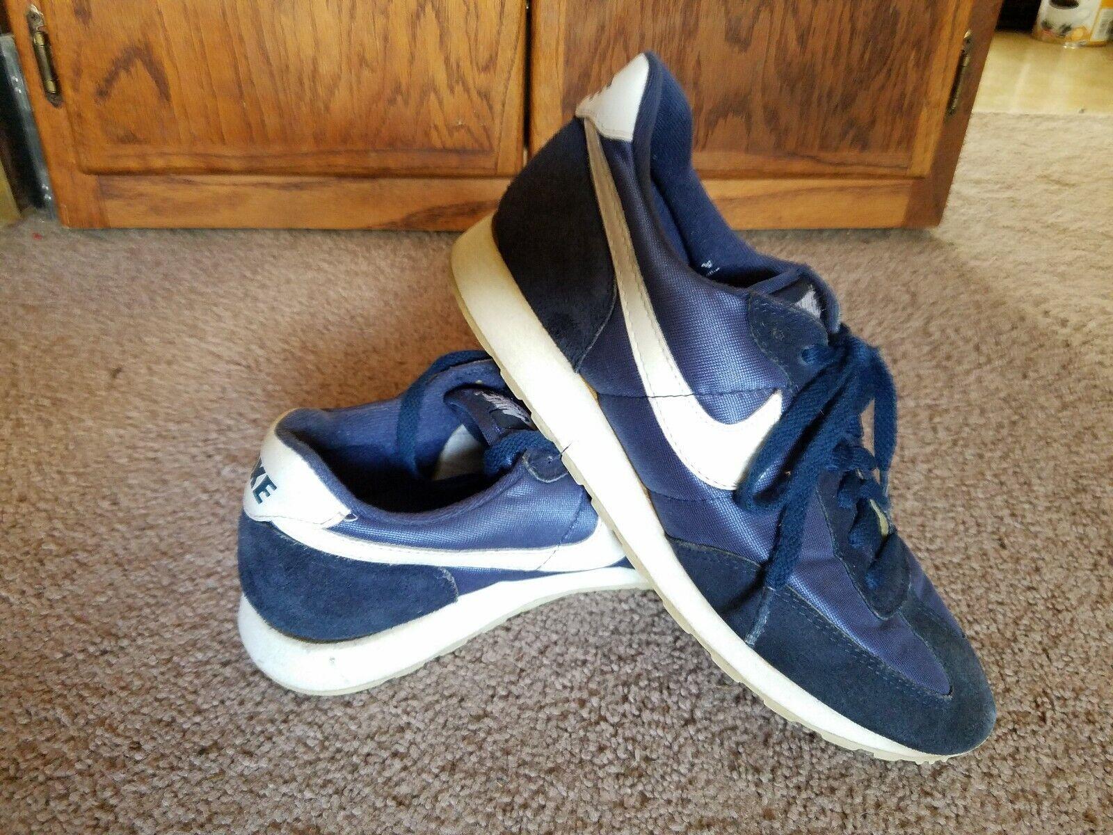 Vintage Nike Sneakers Sports shoesSuede & Nylonbluee White1980sMens 7 1 2 7.5