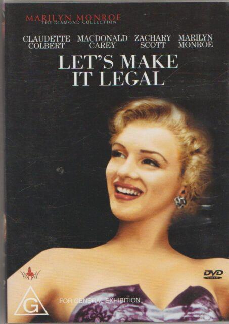 D.V.D MOVIE  DB693    LET'S MAKE IT LEGAL    MARILYN MONROE    DVD