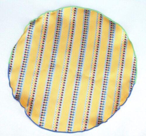$75 Retail New Lord R Colton Masterworks Pocket Yellow Striped Survival Silk