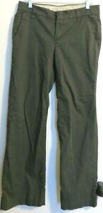 Eddie Bauer Shaw Dark Gray women's size 8 chino casual flat front pants 32x31.5