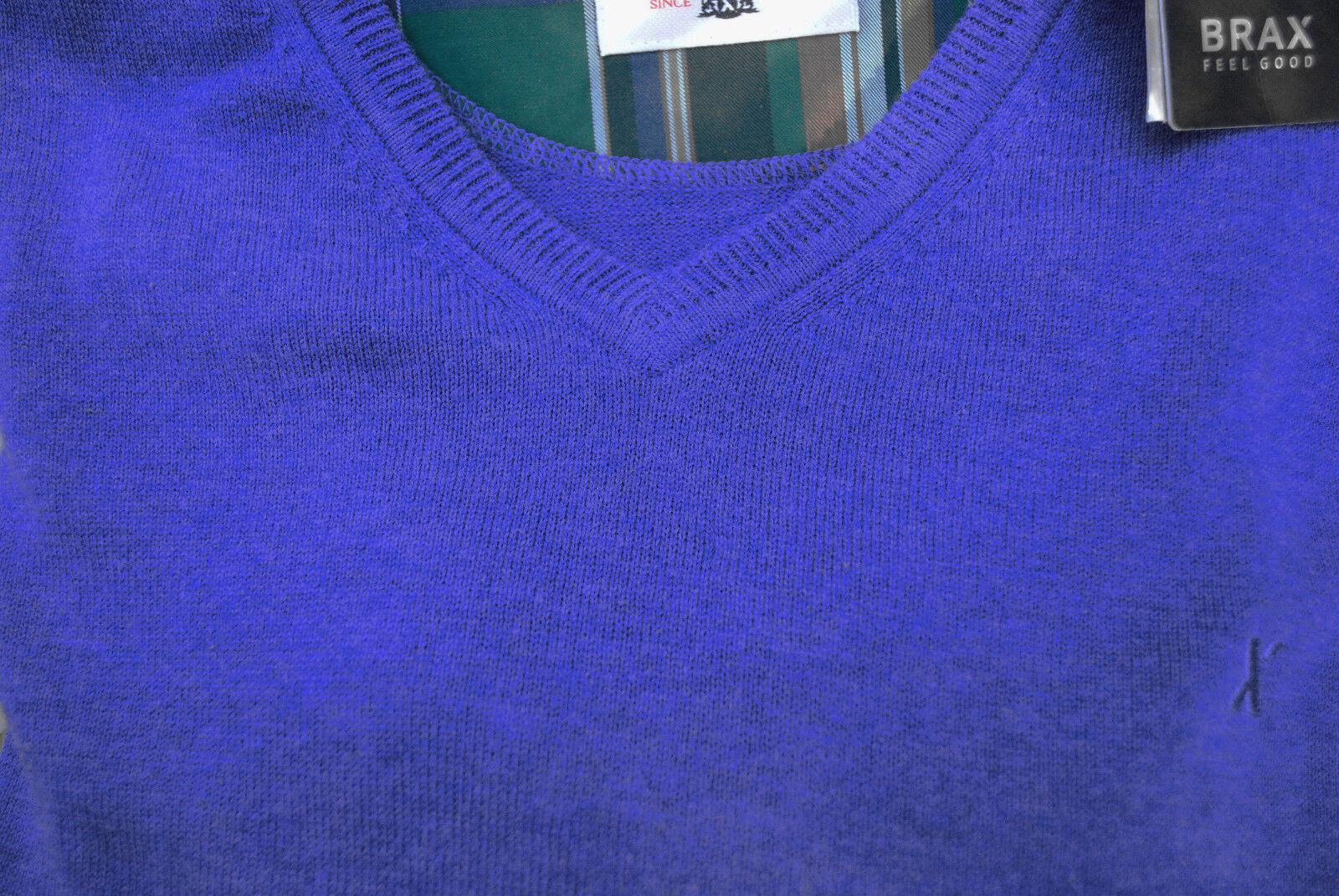 Pullover Gr.52 ( XL ) von Brax...V-Ausschnitt...BLAU...Herren...Neu mit Etikett